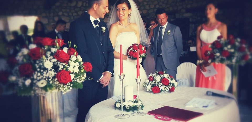 Red Naomi wedding with Ivana Spinelli