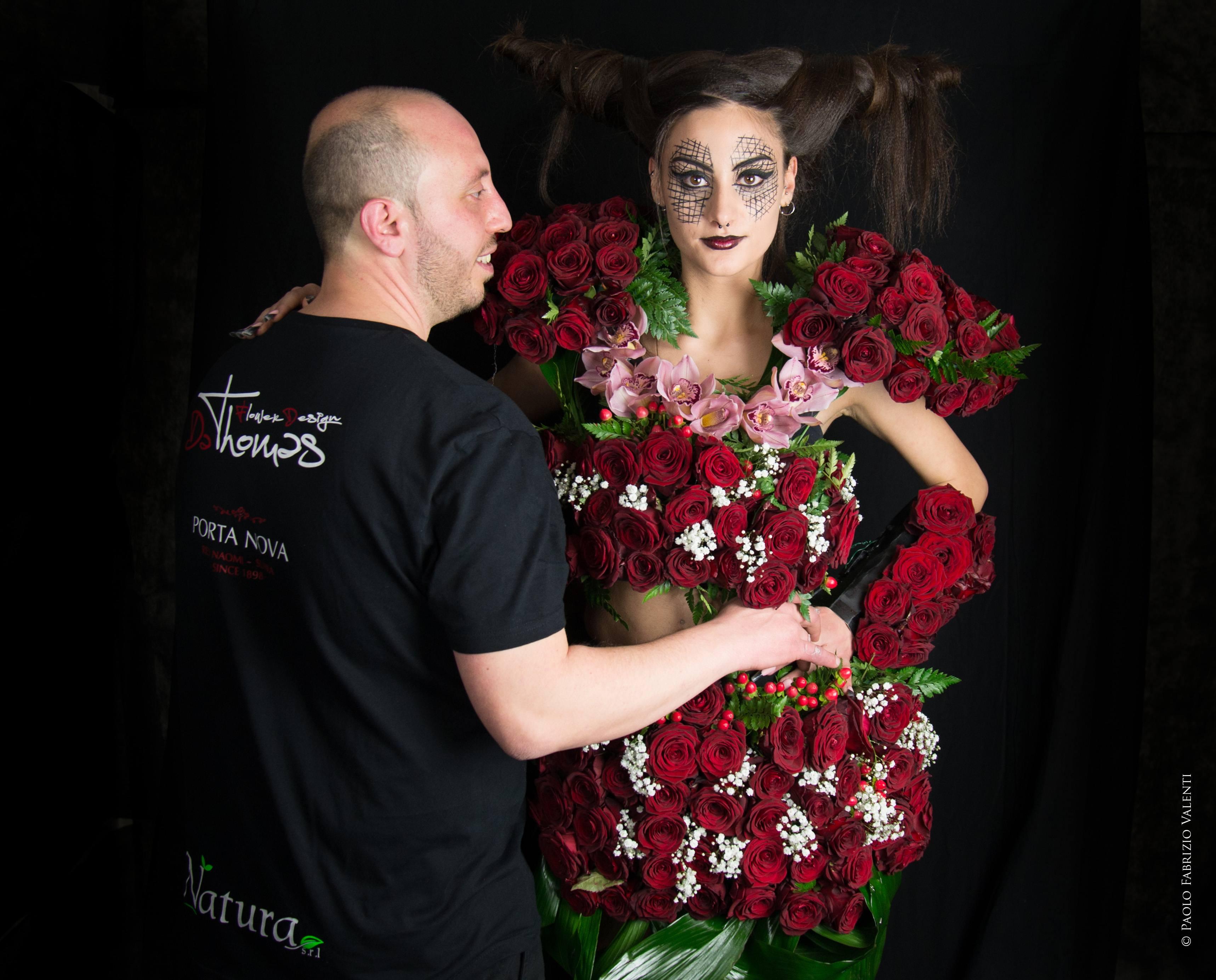 Gothic Flower Design Porta Nova Red Naomi Thomas Rinaldi
