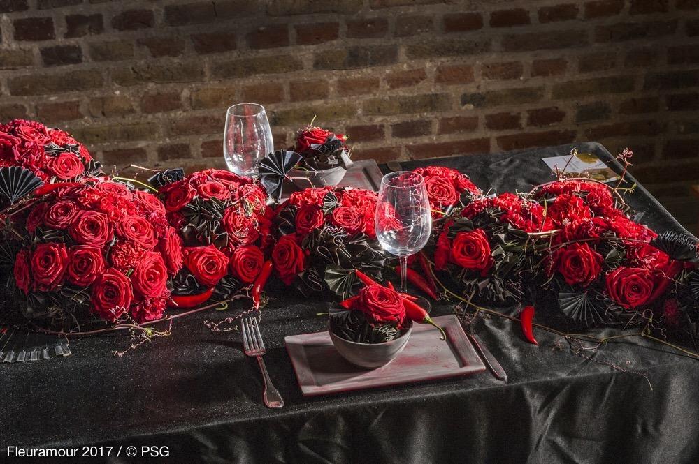 Porta Nova Red Naomi Table by Viky Vangampelaere 2017 Fleuramour 12