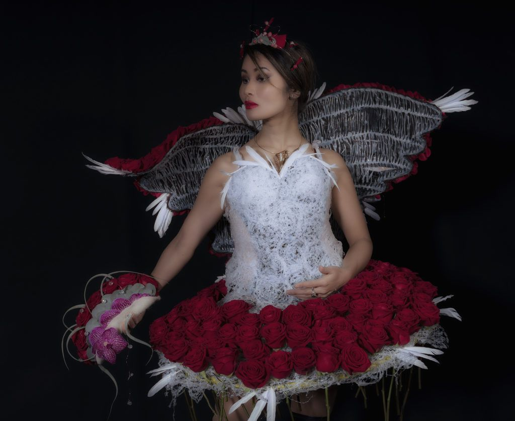 Porta Nova Red Nbaomi Floral Dress Cyrille Ribet 41