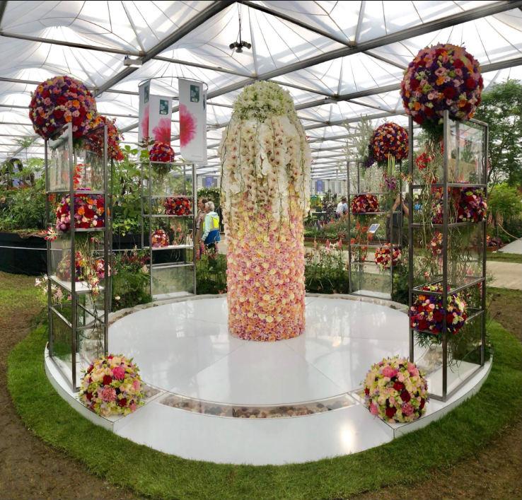 FLORAL FUNDAMENTALS' EXHIBIT AT CHELSEA FLOWER SHOW WITH PORTA NOVA ROSES popo3