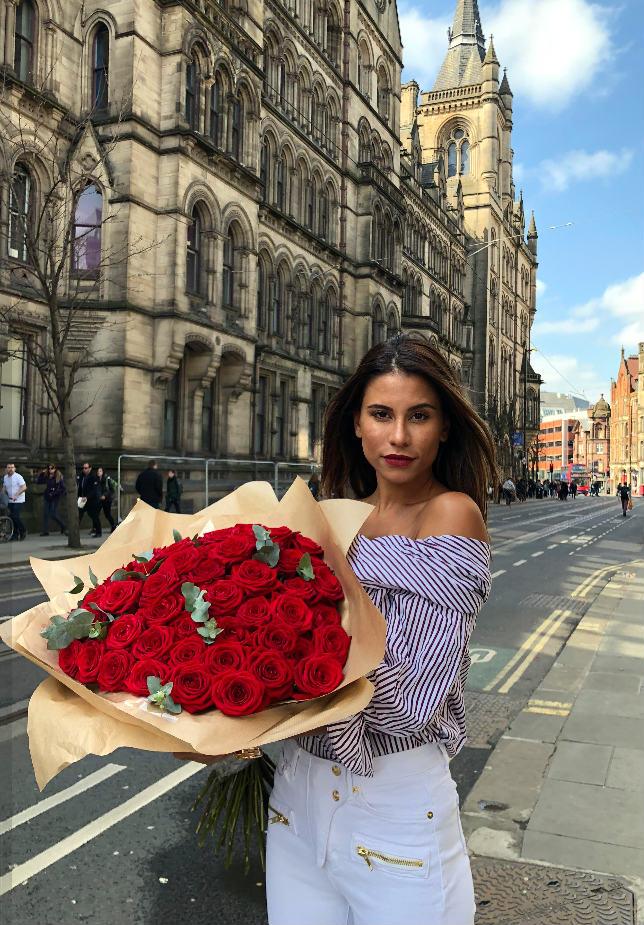porta nova red naomi bouquet from venus flowers London 7