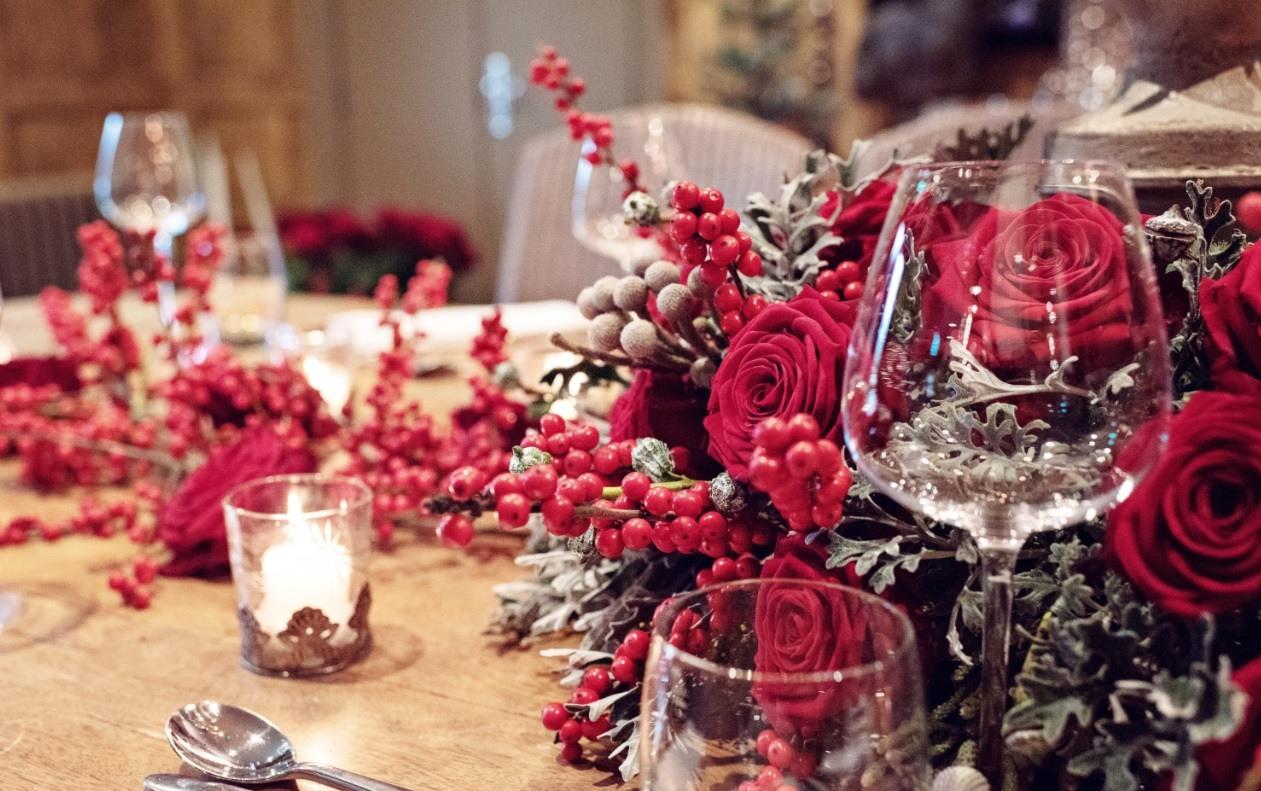 Sarah Crookstone porta nova Christmas red naomi dinner table two