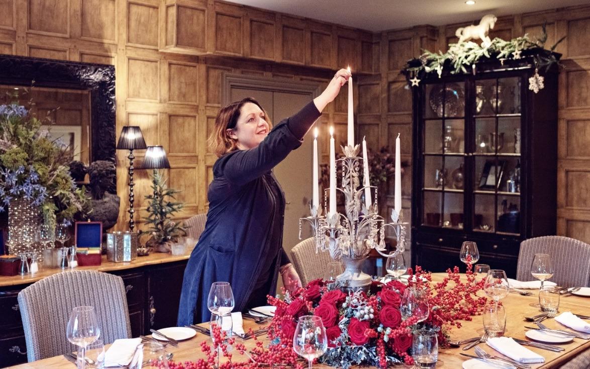 Sarah Crookstone porta nova Christmas red naomi dinner table one