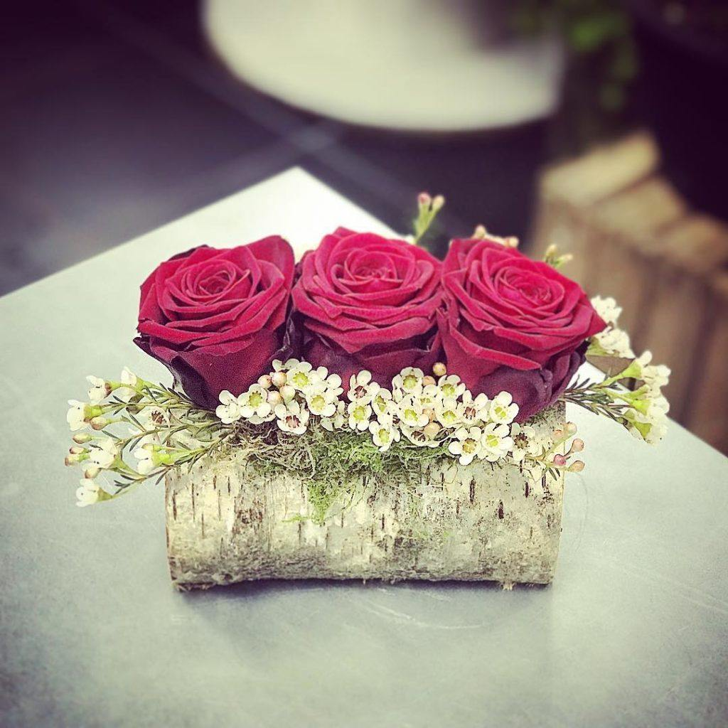mon-fleuriste Porta Nova Red Naomi valentines red roses
