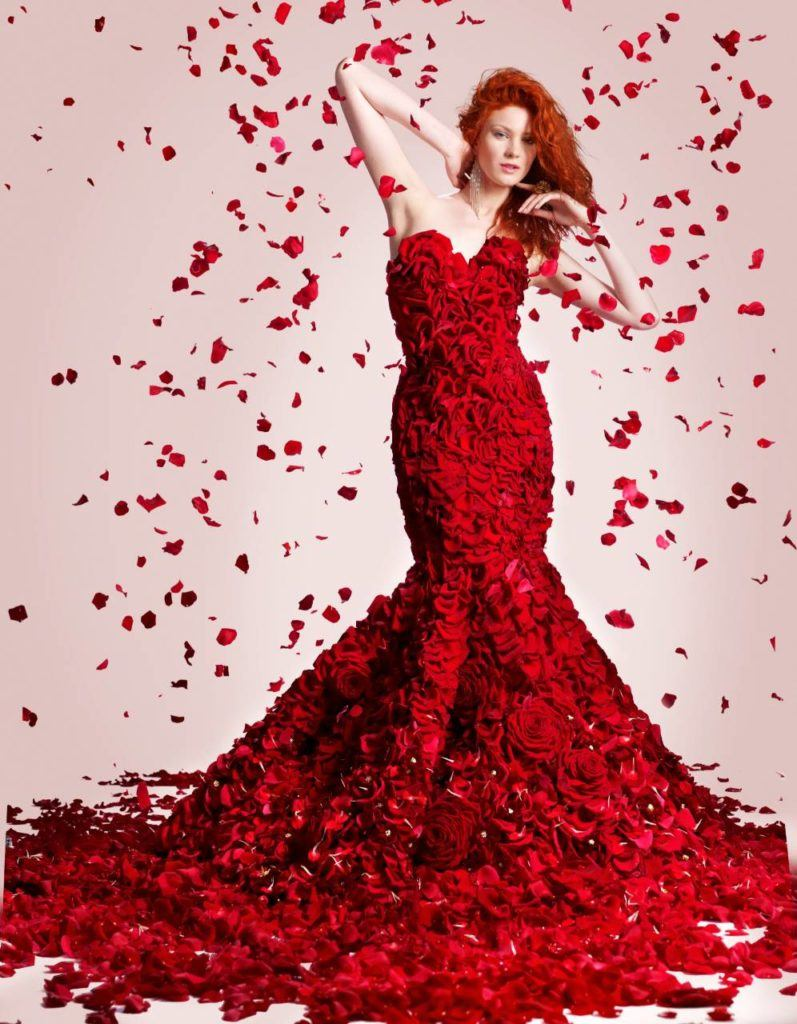 Stunning Porta Nova Red Naomi dress by Joe Massie