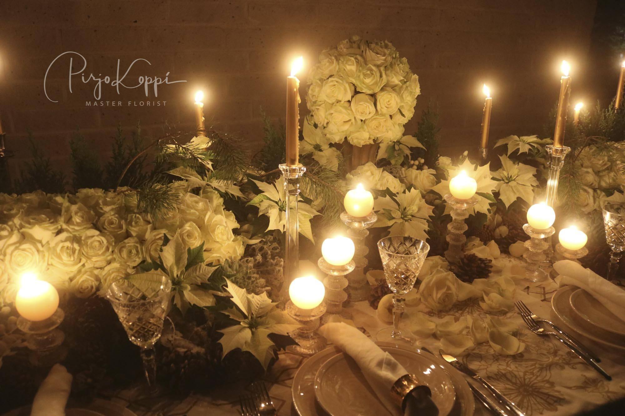Pirjo's Elegant Festive Dinner Table with Porta Nova White Naomi 3