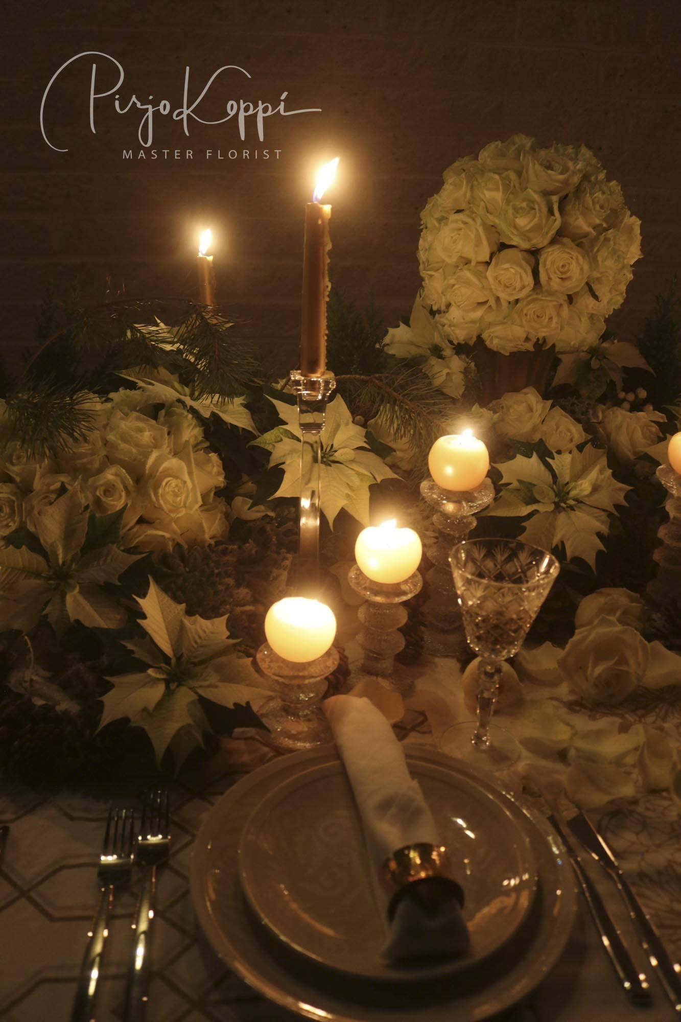 Porta Nova White Naomi Pirjo's Elegant Festive Dinner Table with asd