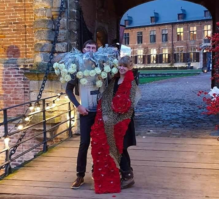 Porta Nova floral Haute Couture at the Winter moments 2019 event