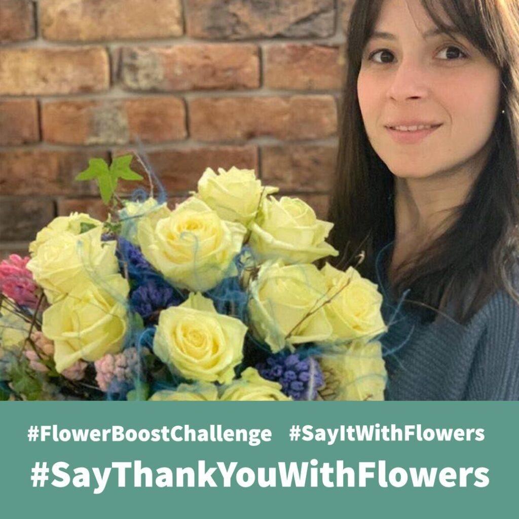 Claudia Tararache' mixed bouquet with Porta Nova White Naomi  #SayItWithFlowers