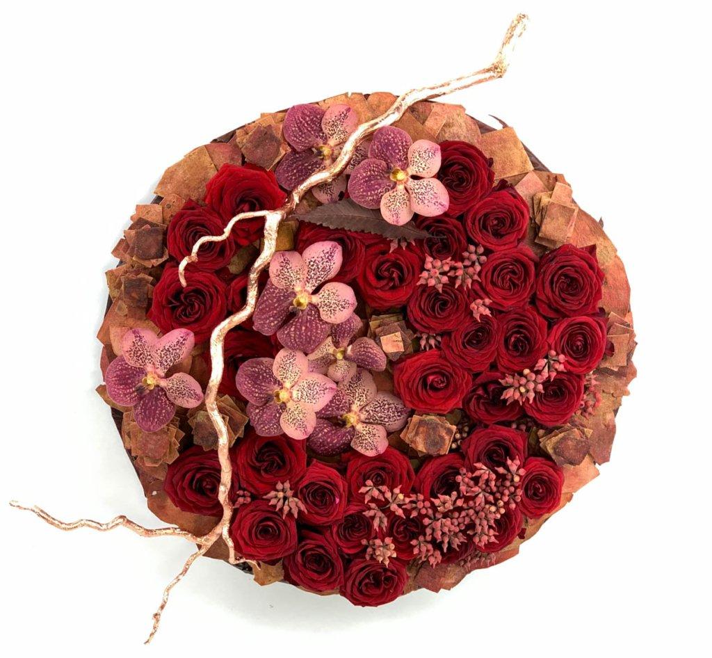 anna popova red naomi floral creation