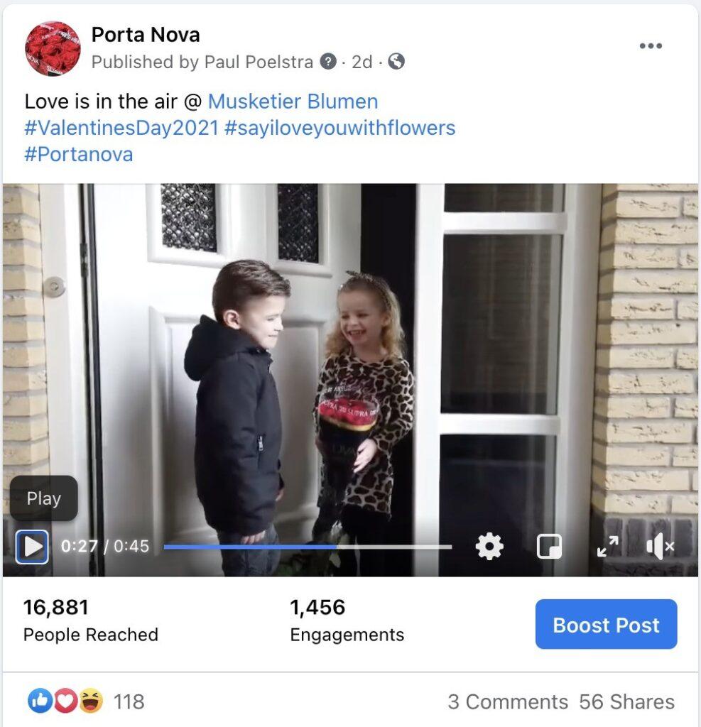 valentine's day social media porta nova