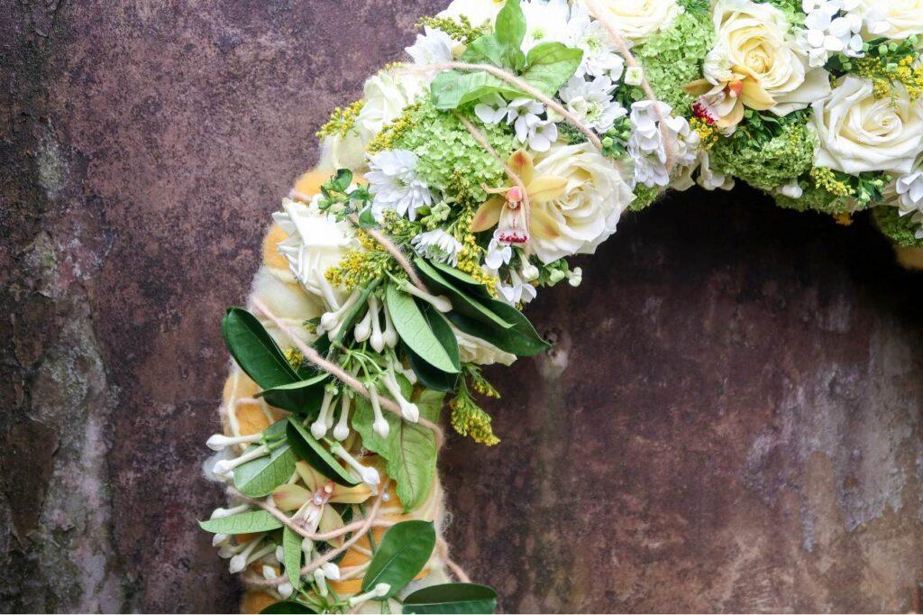 White Naomi wreath by Jimmy Englund