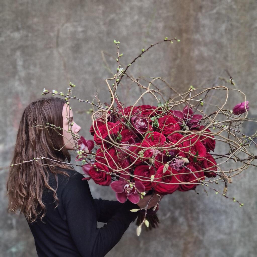Heidi red naomi bouquet