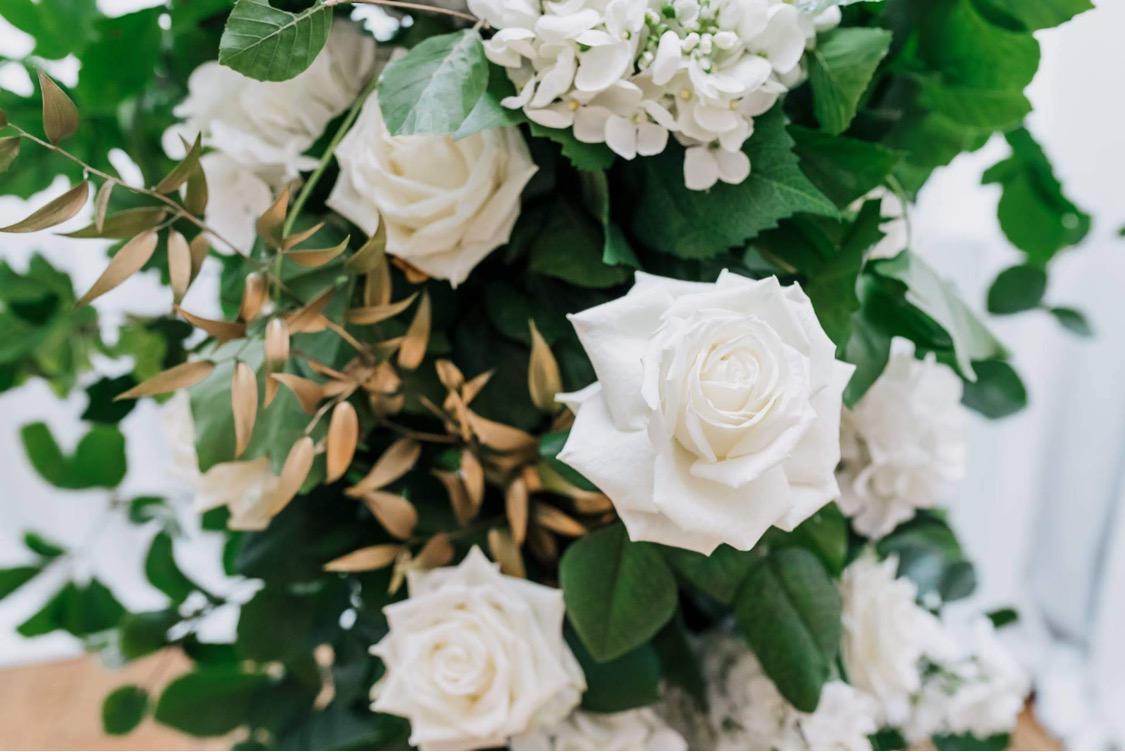 Sarah Crookston's exquisite Porta Nova White Naomi wedding