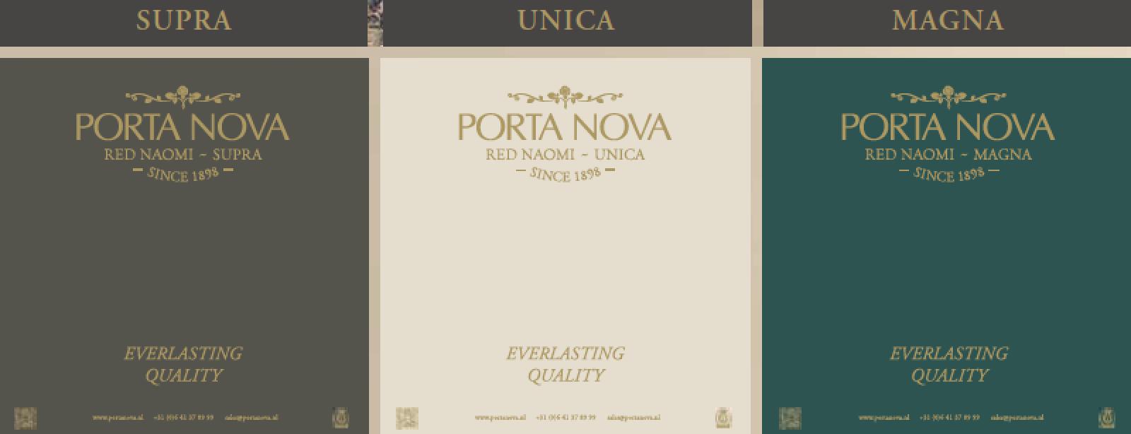 Porta Nova New assortment SUPRA - UNICA -MAGNA