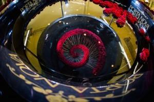 Porta Nova Red Naomi spiral design