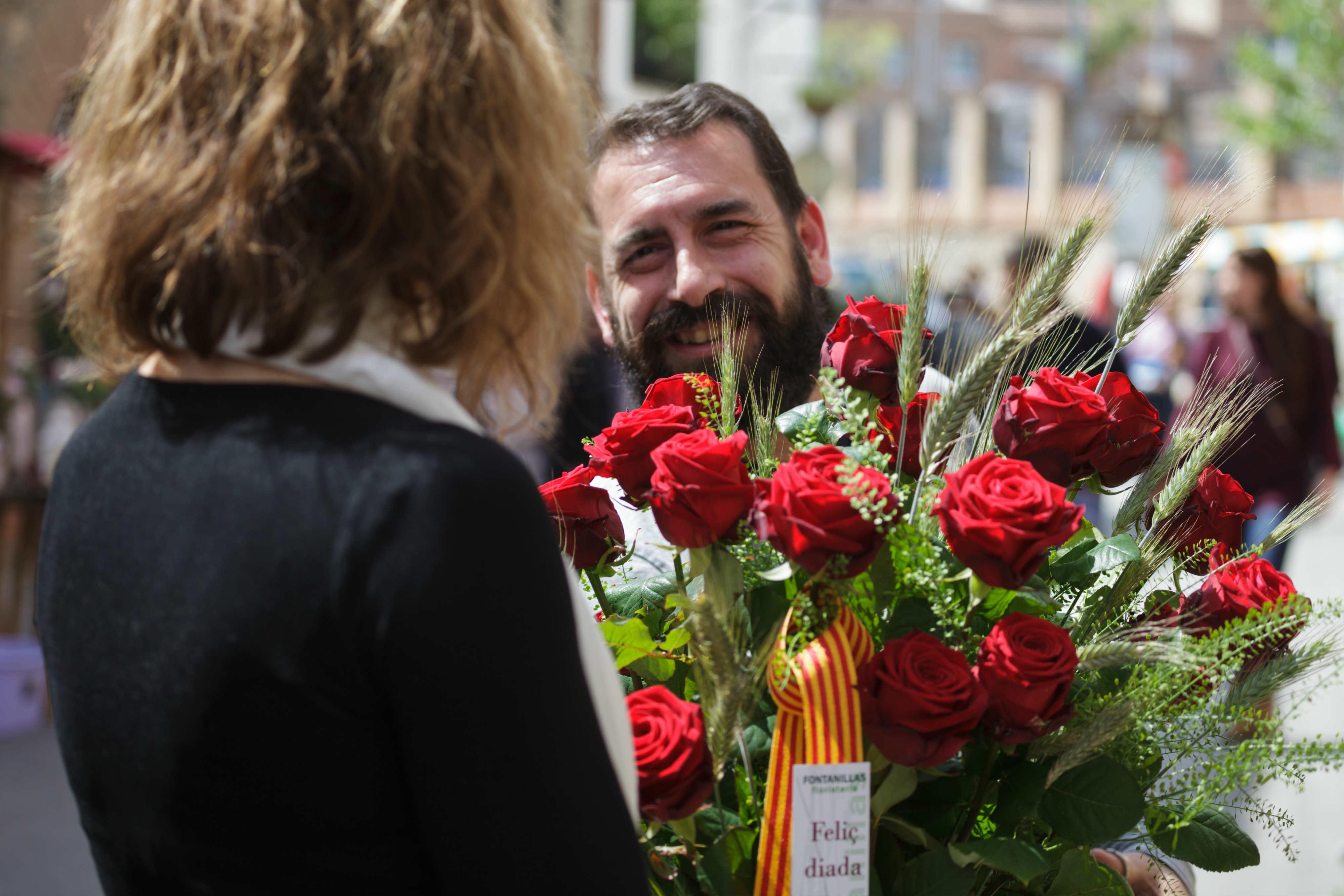 St Jordi's Day Carles Fontanilla Porta Nova 2