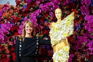 Red Naomi Porta Nova roses at Deutschen Filmpreis