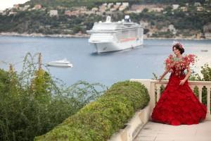 natalia flower dress porta nova red naomi 21